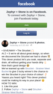 Zephyr Stone – Win The Strucket In Your Choice of Colour
