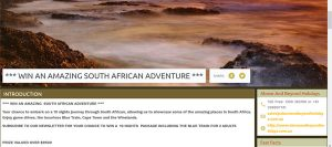 Above and Beyond – Win a South Africa holiday for 2