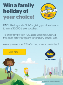 RAC – Win a $5,000 Travel voucher