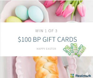Realmark – Win 1 of 3 BP gift cards valued at $100 each