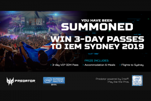 Acer – Win VIP Passes to Iem In Sydney