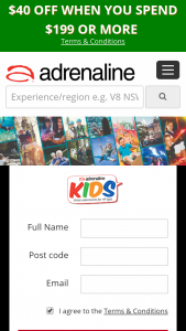 Adrenaline – Win a $1000 Adrenaline Voucher to Spend at Wwwadrenaline (prize valued at $1,000)