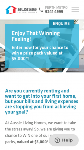 Aussie Living Homes – Win Your Choice of Vouchers Worth $5000 (prize valued at $5,000)