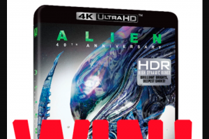 AVhub – Five Copies of this 4k Spectacular Remaster of The Film That Birthed The Wildly Successful Alien Franchise (prize valued at $199)