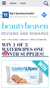 Beauty Heaven – Will Score Themselves a One-Month Supply of Waterwipes – 12 Packs In Total
