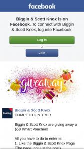 Biggin & Scott Knox – a $50 Kmart Voucher
