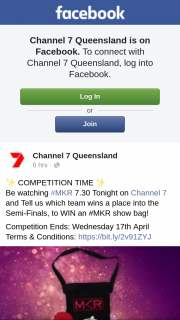 Channel 7 Qld – Win an #mkr Show Bag (prize valued at $100)