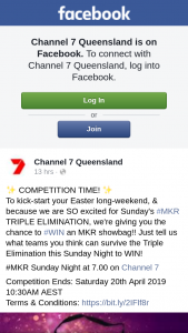 Channel 7 Queensland – Win an Mkr Showbag