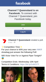 Channel 7 Queensland – Win Your Very Own #mkr Showbag Just Answer The Following Poll