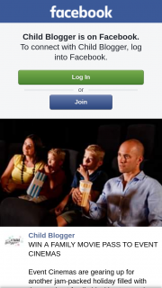 Child Blogger – Win a Family Movie Pass to Event Cinemas