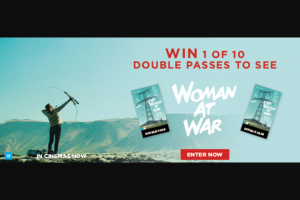 Dendy cinemas – Win a Double-Pass to See Woman at War