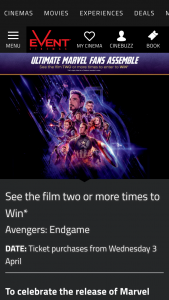 Event Cinemas – Win The Minor Prize