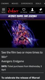 Event Cinemas – Win The Minor Prize
