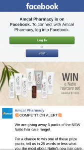 FB Amcal Pharmacy – Win One of These Prize Packs (prize valued at $115)