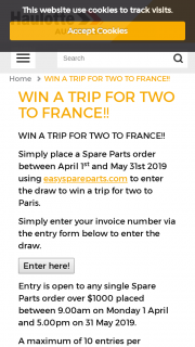 Haulotte – Win a Trip for Two to France (prize valued at $1)