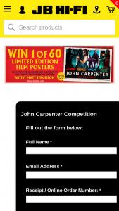 JB HiFi John Carpenter Classics – Win 1 of 60 Limited Edition Film Posters Signed By Matt Ferguson (prize valued at $9,000)