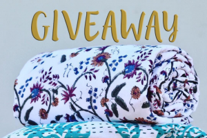 "Kalai Collective – a Prize Pack Comprising Our Brand New ""lotus"" King-Size Kantha Bedspread and ""seagrass"" King-Single Beach Blanket/throw"
