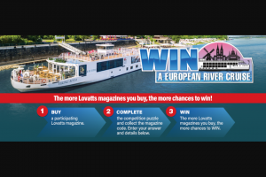 LOVATTS Puzzles – Win a 15-day European River Cruise (prize valued at $23,990)
