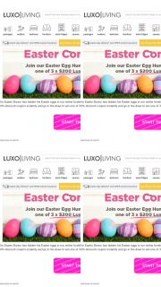 Luxo Living – Win One of 3 X $200 Luxocash Voucher (prize valued at $600)
