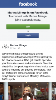 Marina Mirage – Win The Ultimate Shopping and Dining Experience at Marina Mirage