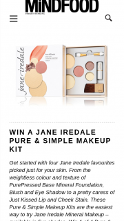 MindFood – Win 1 of 4 Pure & Simple Makeup Kits (prize valued at $60)