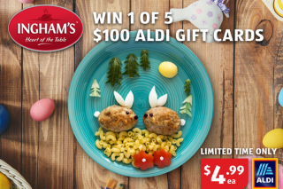 Mouths of Mums – Win 1 of 5 $100 Aldi Vouchers (prize valued at $500)