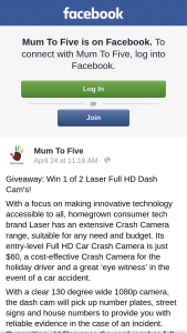 Mum to Five – Win 1 of 2 Laser Full Hd Dash Cam's