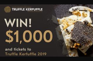 Nova – Win Tickets to Truffle Kerfuffle 2019 With $1000 Spending Money