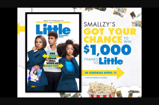 NovaFM Smallzy's got your chance to – Win $1000 Thanks to Little