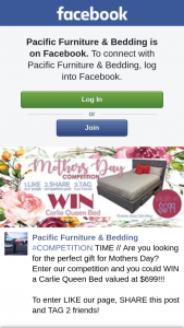 Pacific Furniture & Bedding – Win a Carlie Queen Bed Valued at $699 (prize valued at $699)