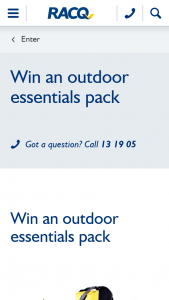 RACQ – Win an Outdoor Essentials Pack for Your Next Adventure (prize valued at $139.95)
