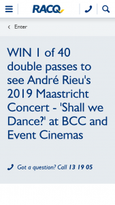RACQ – Win 1 of 40 Double Passes to See Andre Rieu's 2019 Maastricht Concert Shall We Dance