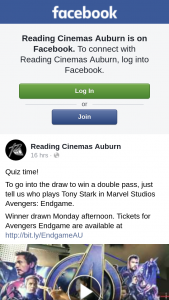 Reading Cinemas Auburn – Win a Double Pass