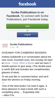 Scribe publications – for Canberra Readers