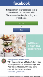 Shepparton Marketplace – Win You Could Win a Mother's Day High Tea Experience for Two at Our High Tea Pop-Up on Thursday 9th May