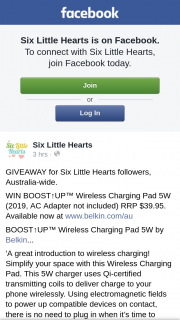 Six Little Hearts – Win this Amazing Charger (prize valued at $39.95)