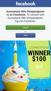 Sunnybank Hills Shoppingtown – Win a $100 Gift Card (prize valued at $100)