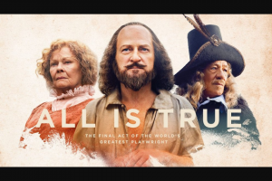 The Australian – Win 1 of 80 Double Passes to All Is True (prize valued at $3,200)