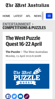 The West Australian – Will Receive an Ikea Gift Card to The Value of $200 (prize valued at $1,000)