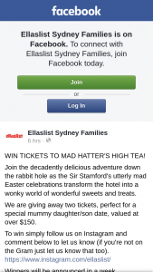 Tickets to Mad Hatter's High Tea (prize valued at $150)