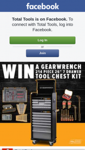 Total Tools – Win a Gearwrench 214 Piece 26″ 7 Drawer Tool Chest Kit