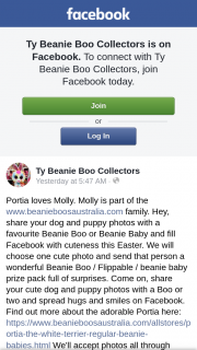 Ty beanie boo collectors – Tuesday April 23.