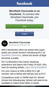 Westfield Chermside – Win | Remember When We Asked What Super Power You Would Choose