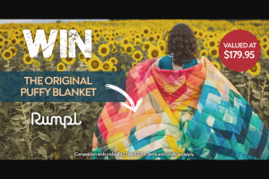 Wild Earth – Win The Original Puffy Blanket From Rumpl (prize valued at $179)