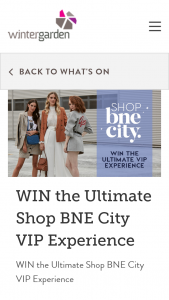 Wintergarden SC – Win The Ultimate Shop Bne City VIP Experience