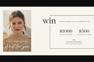 Witchery – Win a $1000 Gift Card & $500 Spa Voucher (prize valued at $1,500)