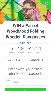 Woodmood – Win a Pair of Woodmood Folding Wooden Sunglasses