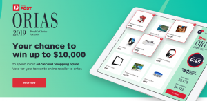 Auspost – ORIAS – People's Choice Awards 2019 – Win $10,000