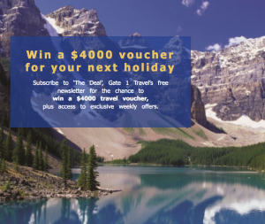 Gate 1 Travel Australia – Win a $4,000 travel voucher