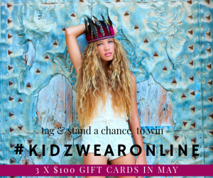 Kidz Wear Online – Win 1 of 5 gift cards valued at $100 each